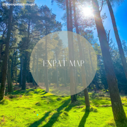 Expat Map Reading - setting down roots in a foreign country based off astrology